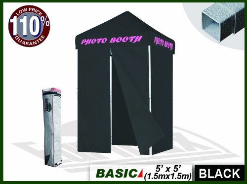 Eurmax 5X5 Photo Booth Ez Pop Up Canopy Tent Gazebo W/ Carry Bag (Custom Text Font) front-1025416