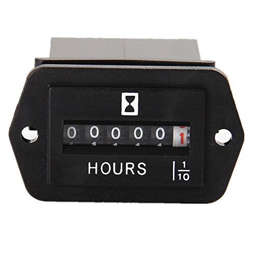 Dc Volt Hour Meter : Searon dc v mechanical engine hour