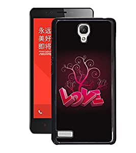 Fuson PVC-2D Metallic Printed Valentine Love Premium Designer Back Case Cover for Xiaomi Redmi Note - D589