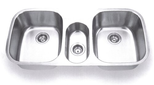 3 Bowl Kitchen Sink : Triple Bowl Kitchen Sink On SALE: Big Save Stainless Steel Undermount ...
