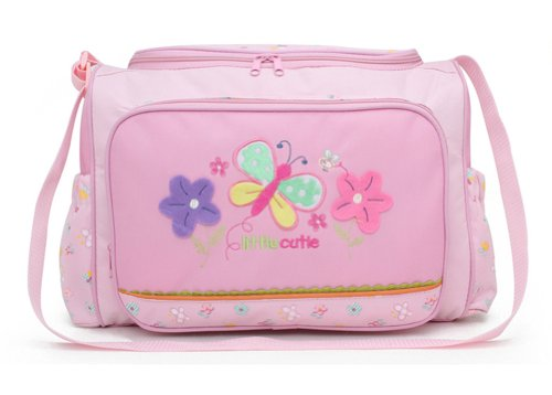 Tonwhar Cartoon Diaper Tote Bags Mummy Bag (Pink Butterfly) front-978457