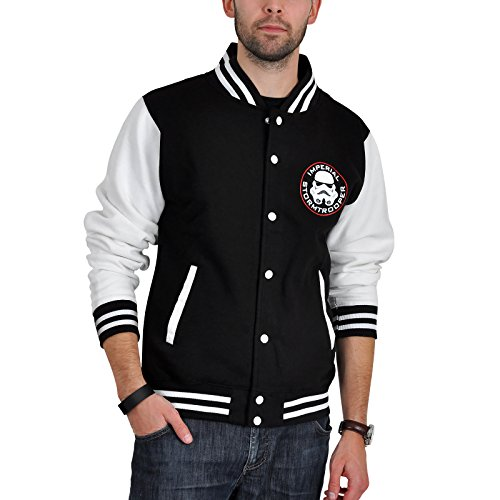 Star Wars Imperial - Stormtrooper Giacca college nero/bianco L