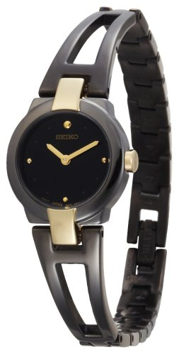 Seiko Women's SUJA80 Dress Black Ion Watch