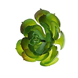 Imported Artificial Succulent Real Touch Gem Lotus Flower Foliage Decor Pink Green