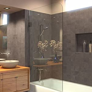 Ark Showers Frameless Bathtub Shower Screen Pivot Door
