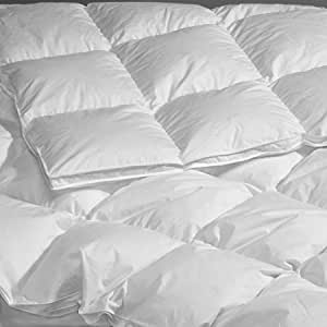 """260 TC Twin Extra-long White Goose Down Comforter 64X93 Summer Fill 20 oz-""""La Palma"""" Collection"""