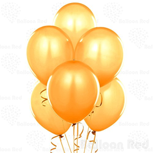 12 Inch Pearlized Latex Balloons (Premium Helium Quality), Pack of 144, Metallic Gold