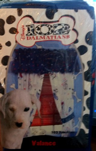 Springs Bed Fashions Group 102 Dalmatians Pawprint Valance