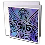 Art of Jolie E Bonnette Humanoids - Oberon Fairy Male Tribal Fantasy Abstract - Greeting Cards-12 Greeting Cards with envelopes