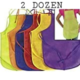 12 Pack Assorted Childrens Artists Aprons Kitchen Classroom (2 PACK)