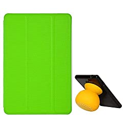 VG Ultra Thin Protective Smart Case Cover with Sleep Mode and Stand for Apple iPad Mini (Green) + Bluetooth Suction Stand Speakers