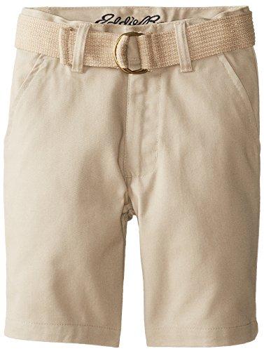 Eddie Bauer Little Boys' Twill Shorts with Back Flap Pockets, Khaki, 6