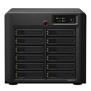 Synology DiskStation DS2413+ NAS-Server (12-Bay, 2,1GHz, Dual-Core, 2GB RAM, 2-Port, 2x USB 3.0)