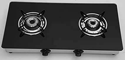 Surya Toughened Glass Gas Cooktop (2 Burner)