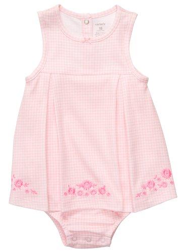 Carter'S Infant Gingham Sunsuit - Pink-9 Months front-160047