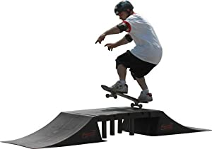 Skateboard BMX Double Ramp with Center Table