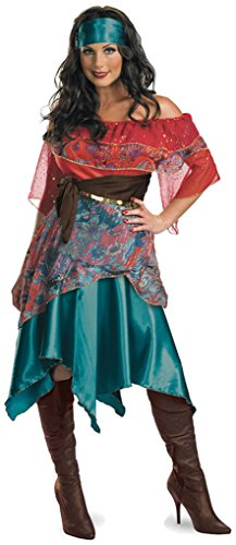 Disguise Womens Deluxe Bohemian Babe Gypsy Fortune Teller Costume