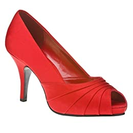 Product Image Women's Mossimo® Isabella Peep-Toe Pumps - Red