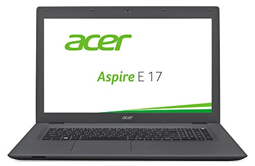 Acer Aspire E 17 (E5-772-5293) 43,9 cm (17,3 Zoll HD+) Notebook (Intel Core i5-4210U, 8GB RAM, 1000GB HDD + 128GB SSD, Intel HD Graphics 4400, DVD, Win 10 Home) schwarz