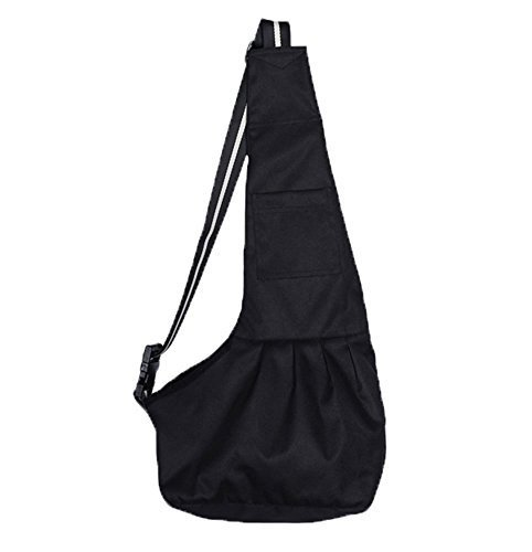 Inviktus Black Oxford Cloth Sling Pet Dog Cat Carrier Bag( Large)