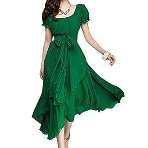 vintage chic en mousseline de soie robe longue balle de grande taille hd01 sports. Black Bedroom Furniture Sets. Home Design Ideas
