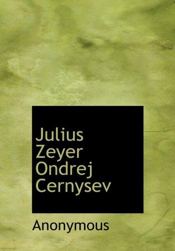 Julius Zeyer Ondrej Cernysev