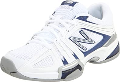 New Balance Women's WC1005 Tennis Shoe,White/Blue,5 2A US