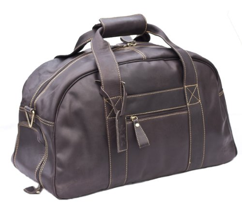 Mudd Soft Brown Hunter Leather roundish style holdall