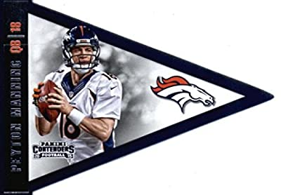 2015 Panini Contenders Pennants #5 Peyton Manning Denver Broncos Football Card