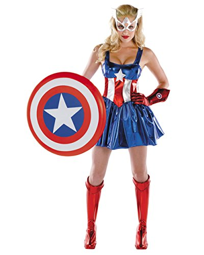 Disguise Women's Marvel Captain America American Dream Sassy Deluxe Costume
