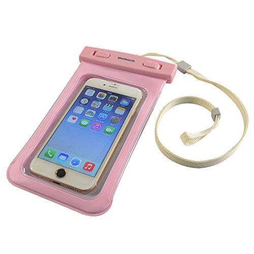 オウルテック 大きめサイズのスマートフォン用防水・防塵ケース メーカー保証 iPhone 6s / 6sPlus等 対応 保護等級IP68取得 ピンク