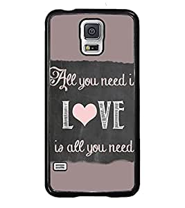 PRINTVISA Quotes Love Case Cover for Samsung Galaxy S5