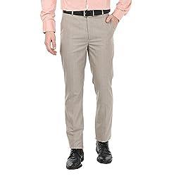Zido Men'S Slim Fit Beige Formal Trouser_ZI15065_Beige