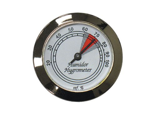 Prestige Import Group HYB134/S Hygrometer with Silver Frame and Glass Face, 1-3/4-Inch - 1