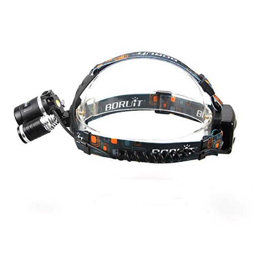 1 Set Primo Popular Head Lamp LED Headlight Rechargeable Torch Flashlight Colors Black