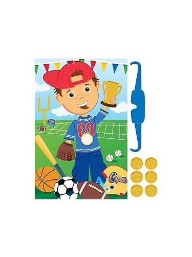 Sports 'Little Champs' Party Game Poster (1ct)