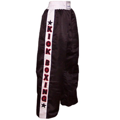 Thai boxing Trouser muay thai kick boxing Trousers kickboxing Martial Arts Contact Satin Black Large