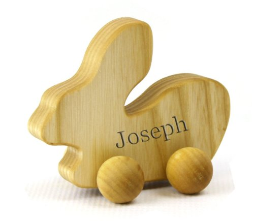 Personalized Eco-Friendly Wooden Bunny Push Toy For Babies & Toddlers front-675631