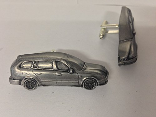 saab-93-estate-1995-3d-cufflinks-classic-car-pewter-effect-cufflinks-ref237