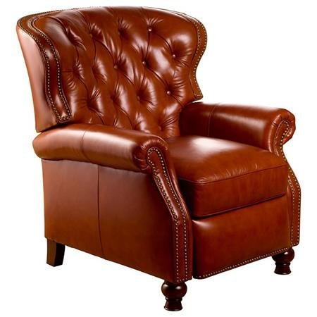 Enjoyable Cambridge Reclining Chair Tufted Mayfield Cognac Leather Short Links Chair Design For Home Short Linksinfo