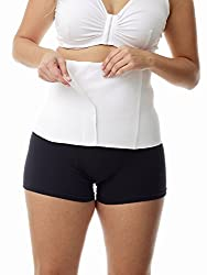 Underworks Post Delivery Binder - Maternity Belt - Post Natal, White, Small