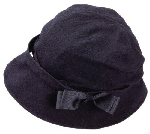 風にとばされにくい 小顔UV帽子 ブラック