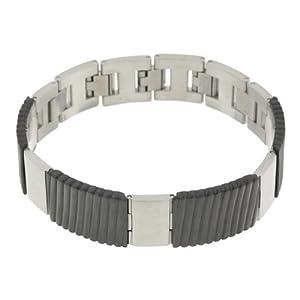 Esprit Herren-Armband Flush Schwarz Edelstahl 22 Cm ESBR-10990.A.220
