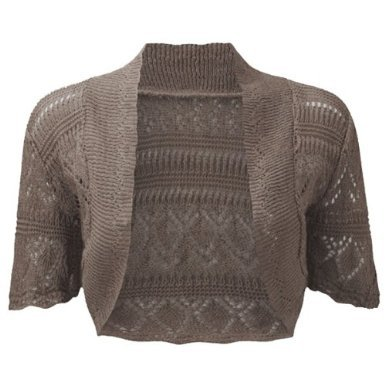Womens Shrug Ladies Lace Bolero Knitted Cropped Shrug Cover Up One Size