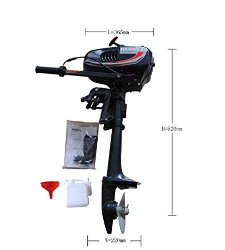 Sican 3.5HP Outboard Motor 2 Stroke Inflatable Fishing Boat Engine (2 Hp Boat Motor compare prices)