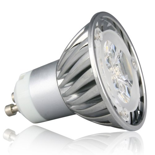 Le Dimmable 4W Mr16 Gu10 Led Light Bulbs, 35W Equivalent, 210Lm, 45° Beam Angle, Recessed Lighting, Track Lighting, Warm White