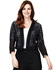 Plus Pure Cotton Broderie Jacket