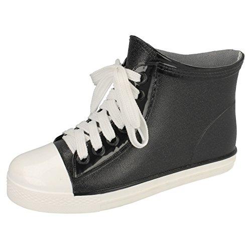 Spot On - Stivaletti alla Caviglia sintetici - Donna (36 EU) (Nero)
