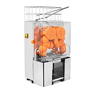 VEVOR Orange Juicer Commercial Auto Feed Orange Juicer Squeezer 120W Orange Juice Machine Squeeze 20-22 Oranges per Mins Stainless Steel Case from VEVOR