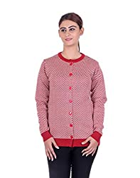 eWools Women's Maroon::White Wool Sweater (748-eWools-Medium)